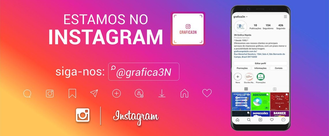 ESTAMOS NO INTRAGRAM 3N (@GRAFICA3N)